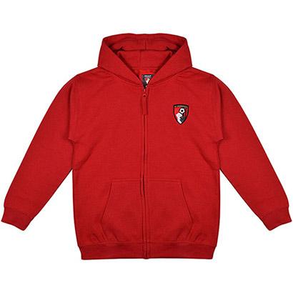 AFC Bournemouth Kids Weekender Full Zip Hoodie - Red