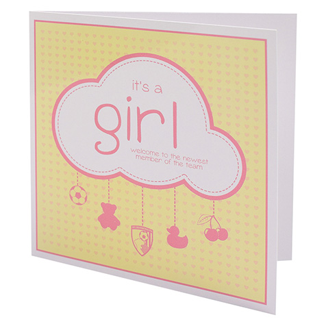 AFC Bournemouth Baby Girl Card