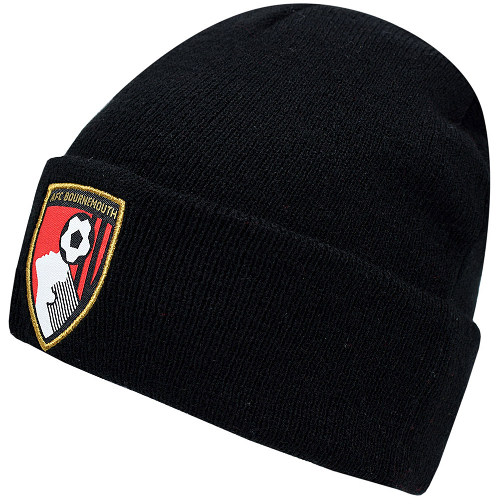 AFC Bournemouth Adults Crest Beanie Hat - Black cfaf382c57ed