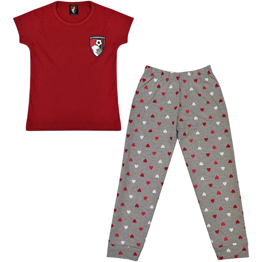 aef0e638d AFC Bournemouth Kid's Hearts Pyjama Set - Red / Grey