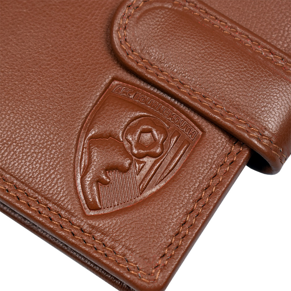 Afc Bournemouth Tan Leather Wallet