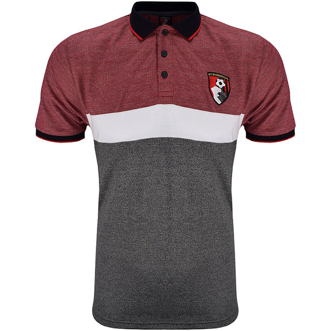 Adults Angelo Polo Shirt - Grey / Red