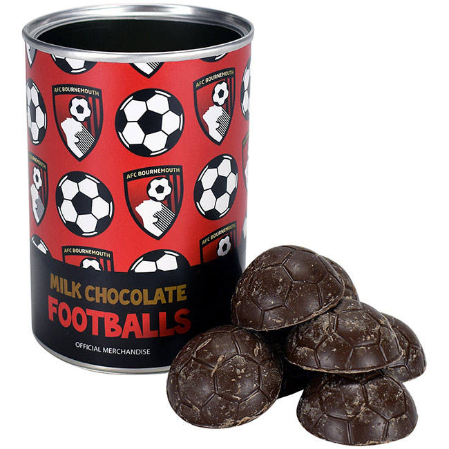 Chocolate Footballs Gift Tin