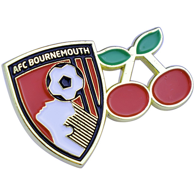 Crest And Cherry Pinbadge