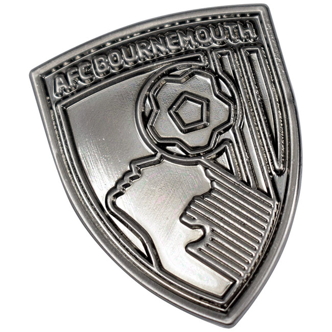 Tonal Crest Pin Badge - Silver