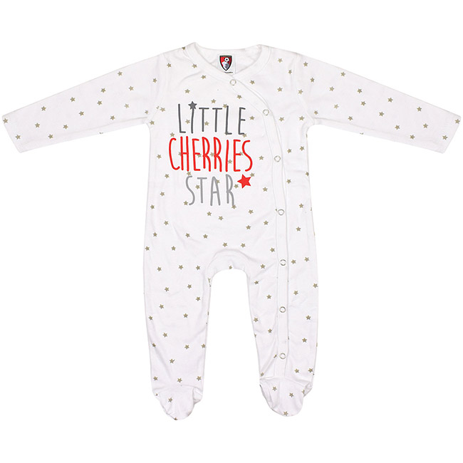 Babies Star Sleepsuit - White