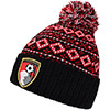 Adults Christmas Beanie Hat - Black / Red