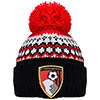 Childrens Christmas Beanie Hat - Black / Red