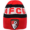 Adults Reversible Beanie Hat - Black / Red