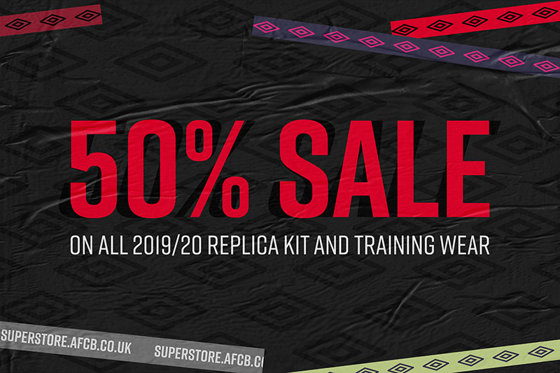 50% Off All Kit & Training Wear