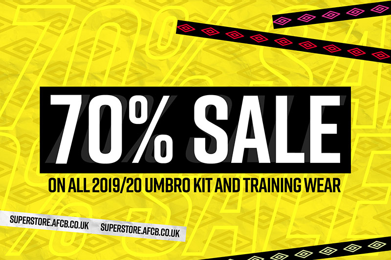 70% Off All Kit & Training Wear